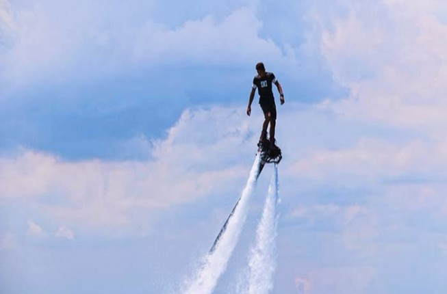 Flyboarding activity in Goa